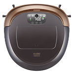 iClebo Omega Robot Vacuum Cleaner, Smart Turbo Mode, Adjustable Climbing Mode, Wet Mopping and HEPA Filter - Black/Gold